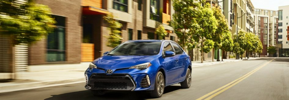 2019 Toyota Corolla driving down city street